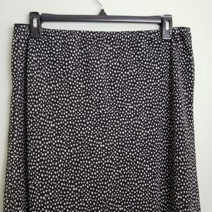 East 5th Skirts - east 5th Black White Polka Dot Ruffle Bottom Skirt